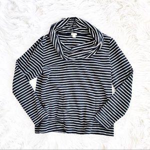 J. Crew Factory Tops - J. Crew striped cowl neck sweatshirt